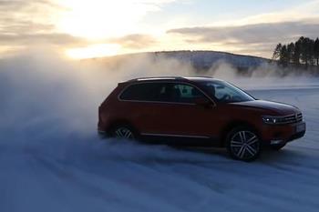 لذت رانندگی و دریفت با فولکس تیگوان در برف