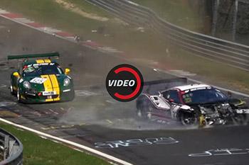تصادف سخت فراری 488 GT3 در مسابقات نوربرگرینگ + فیلم
