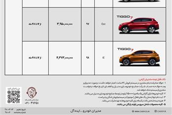شرایط جدید فروش محصولات چری توسط مدیران خودرو + جدول - 2