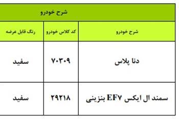شرایط فروش اقساطی ایران خودرو ویژه 27 شهریور + جدول - 1